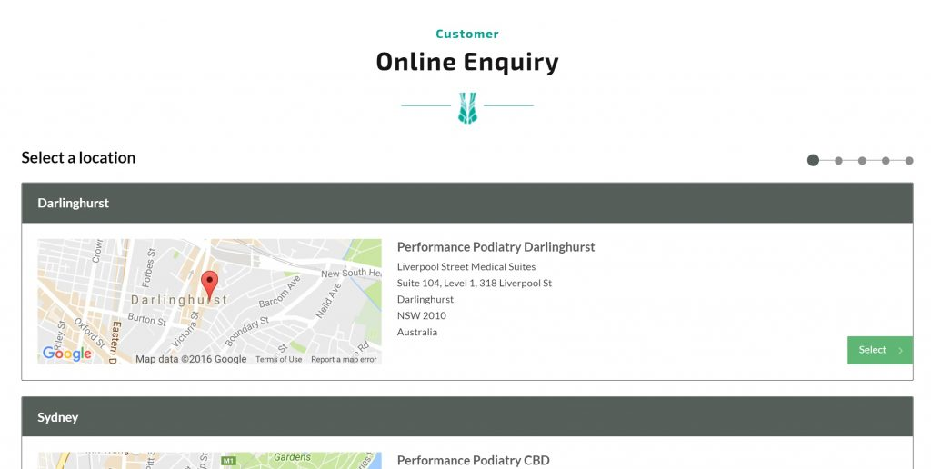 podiatry online bookings